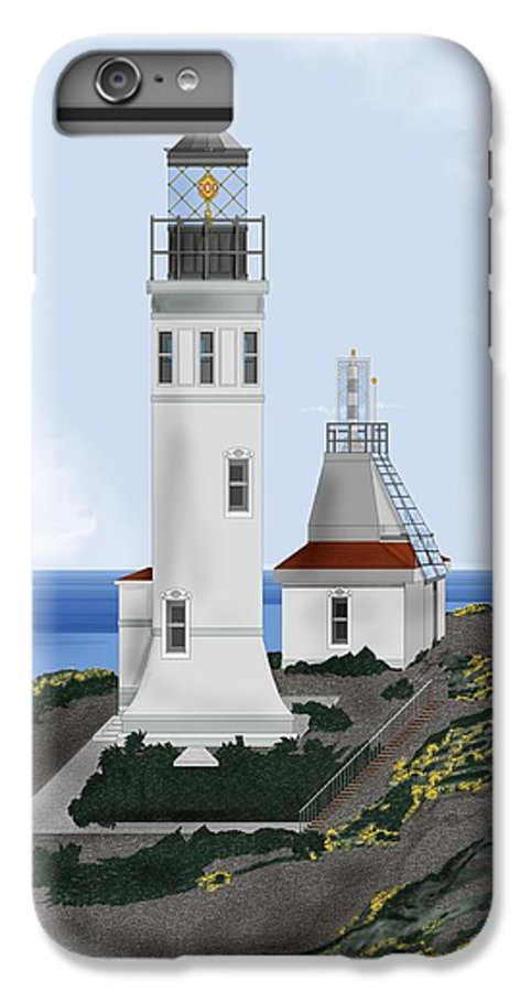Lighthouse IPhone 6 Plus Case featuring the painting Anacapa Lighthouse California by Anne Norskog