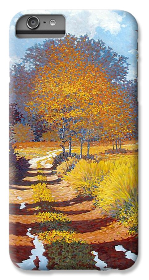 Landscape IPhone 6 Plus Case featuring the painting Autumn by Kevin Lawrence Leveque