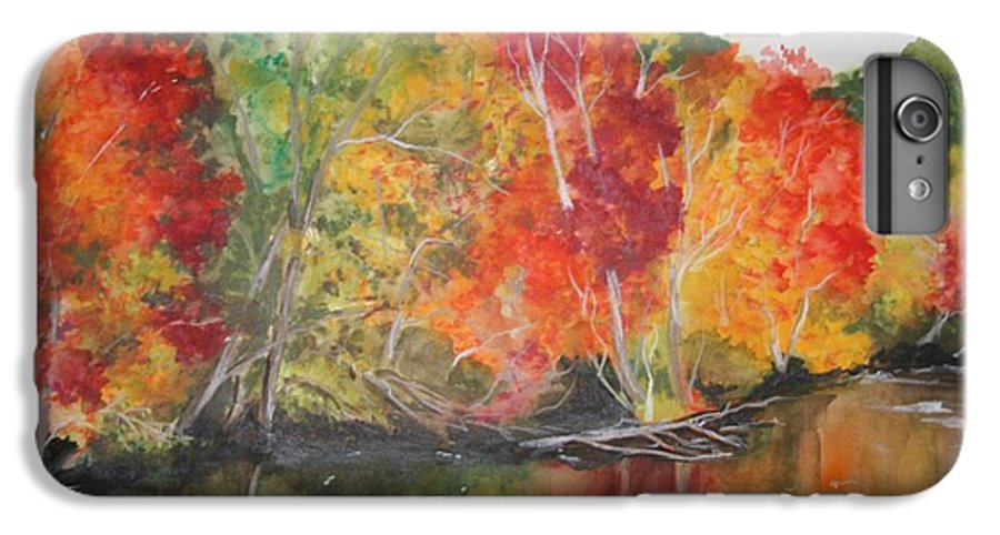 Autumn IPhone 6 Plus Case featuring the painting Autumn Splendor by Jean Blackmer