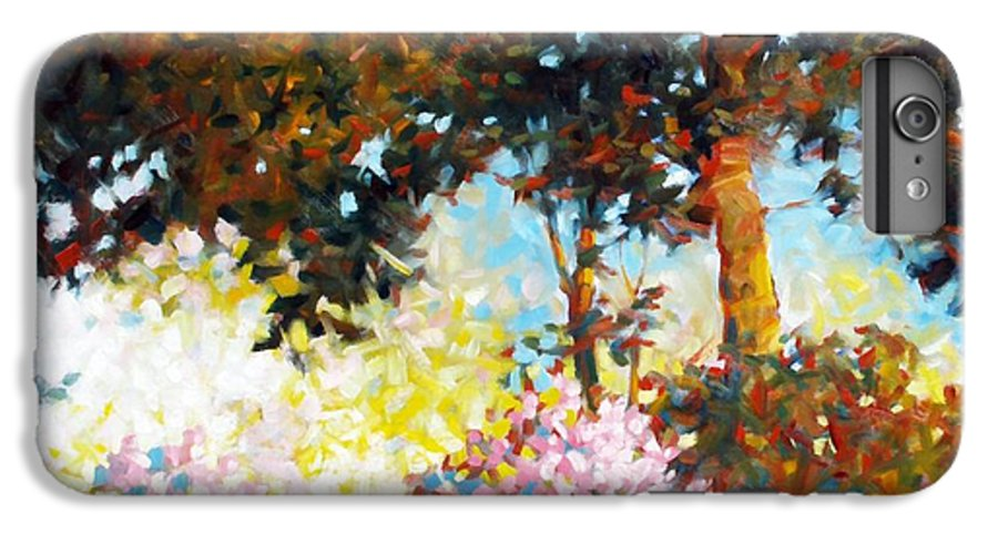 Landscape IPhone 6 Plus Case featuring the painting Azaleas by Kevin Lawrence Leveque