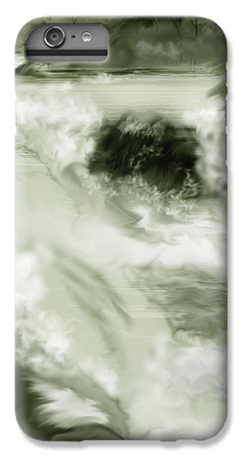 White Water Landscape IPhone 6 Plus Case featuring the painting Cherry Creek White Water by Anne Norskog