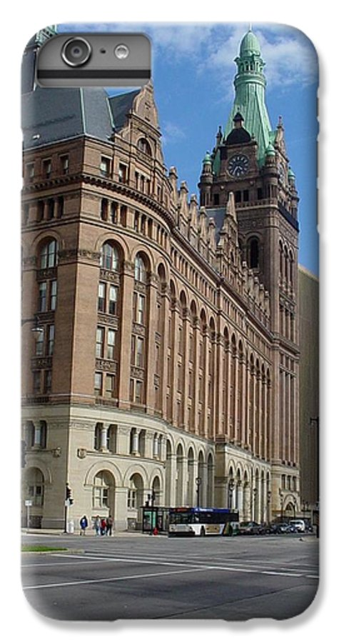 Milwaukee IPhone 6 Plus Case featuring the photograph City Hall And Lamp Post by Anita Burgermeister