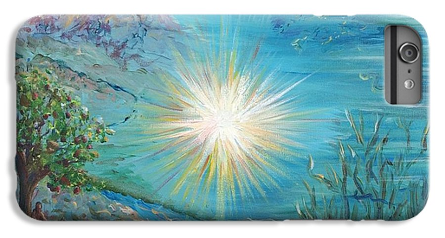 Creation IPhone 6 Plus Case featuring the painting Creation by Nadine Rippelmeyer