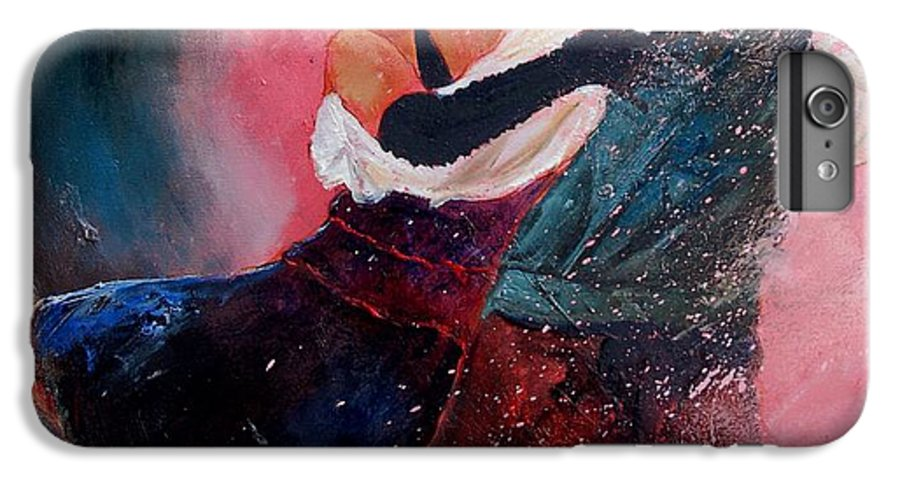 Music IPhone 6 Plus Case featuring the painting Dancing Tango by Pol Ledent