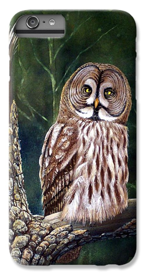 Wildlife IPhone 6 Plus Case featuring the painting Deep In The Woods by Frank Wilson