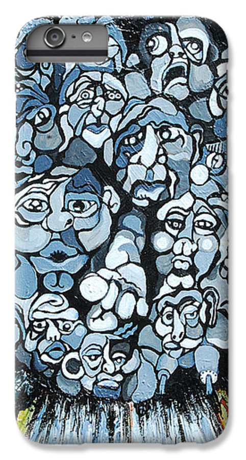 Surreal IPhone 6 Plus Case featuring the painting Elevator by Julie Fischer
