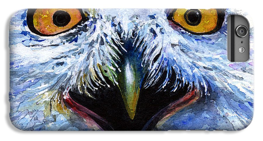 Eye IPhone 6 Plus Case featuring the painting Eyes Of Owls No. 15 by John D Benson