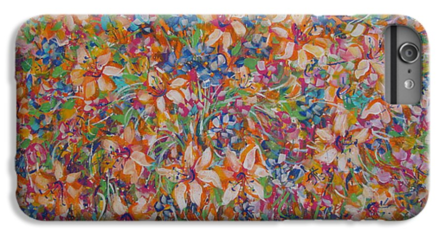 Flowers IPhone 6 Plus Case featuring the painting Flower Galaxy by Natalie Holland