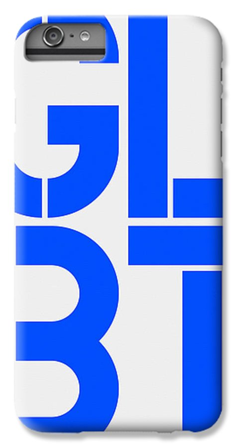 Glbt IPhone 6 Plus Case featuring the painting Glbt by Three Dots
