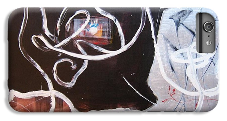 Abstract Paintings IPhone 6 Plus Case featuring the painting Hand In Hand by Seon-Jeong Kim