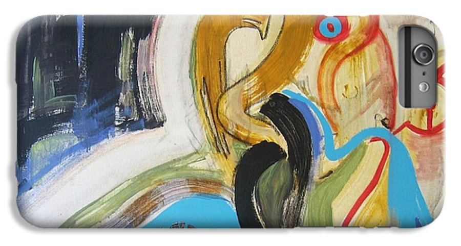 Abstract Art Paintings IPhone 6 Plus Case featuring the painting Hard To Escape by Seon-Jeong Kim