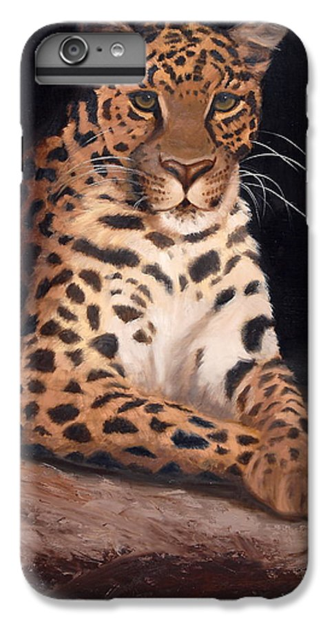 Wildlife IPhone 6 Plus Case featuring the painting Intrigued by Greg Neal