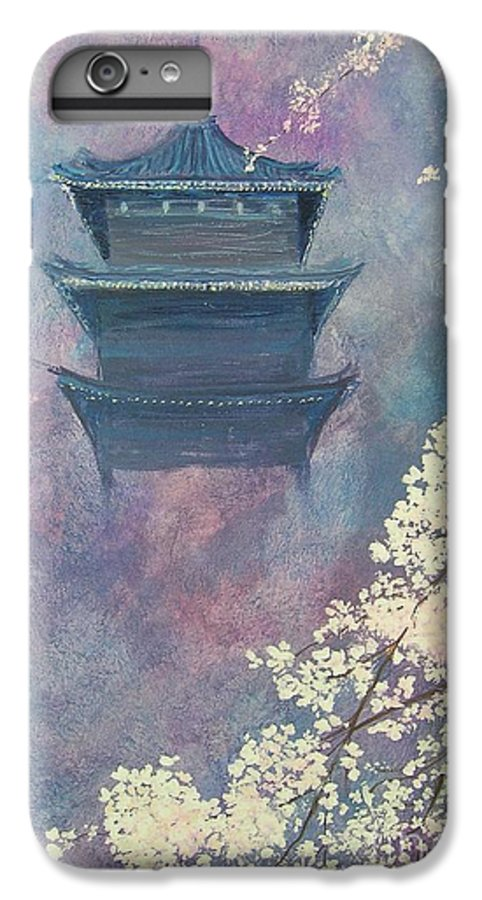 Landscape Japan IPhone 6 Plus Case featuring the painting Japanese Spring Scene by Lizzy Forrester