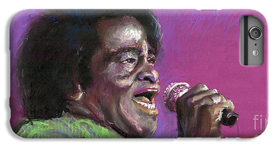 Jazz IPhone 6 Plus Case featuring the painting Jazz. James Brown. by Yuriy Shevchuk