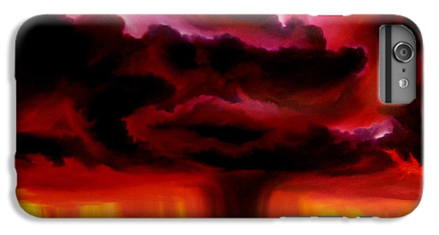 Skyscape IPhone 6 Plus Case featuring the painting Microburst by James Christopher Hill