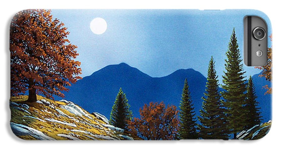Landscape IPhone 6 Plus Case featuring the painting Mountain Moonrise by Frank Wilson