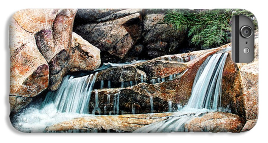 Landscape IPhone 6 Plus Case featuring the painting Mountain Stream by Frank Wilson