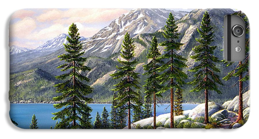 Landscape IPhone 6 Plus Case featuring the painting Mountain Trail by Frank Wilson