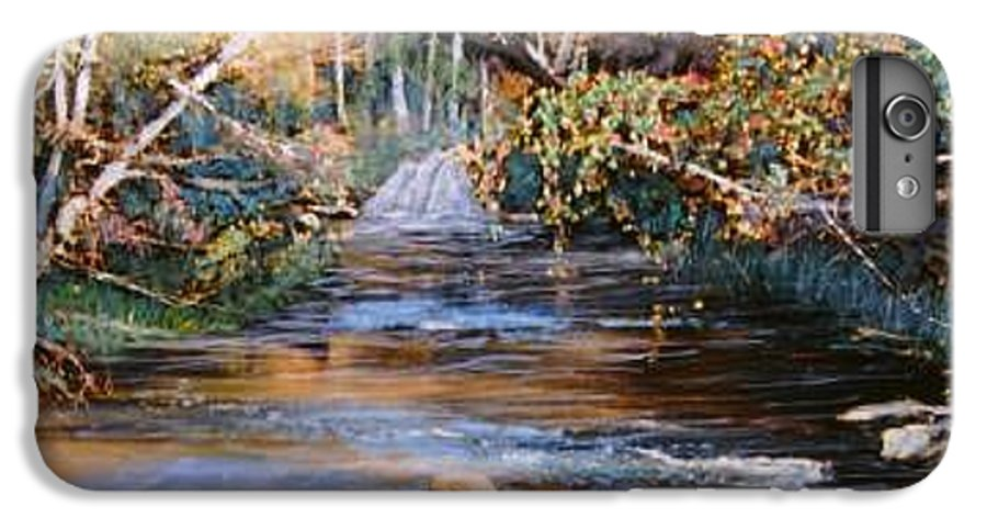 River; Waterfalls IPhone 6 Plus Case featuring the painting My Secret Place by Ben Kiger