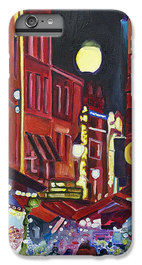 Europe IPhone 6 Plus Case featuring the painting Night Market by Patricia Arroyo