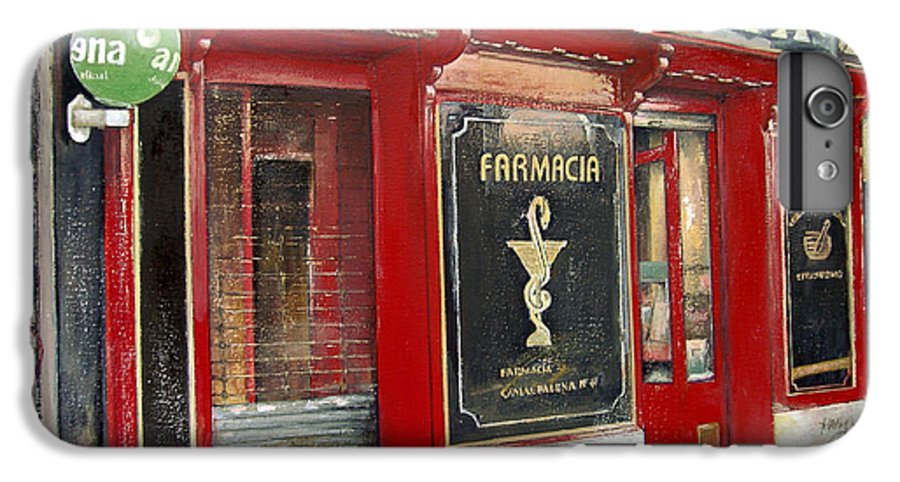 Farmacia IPhone 6 Plus Case featuring the painting Old Pharmacy by Tomas Castano