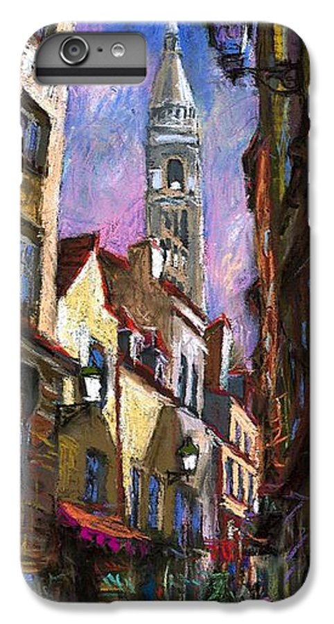 Pastel IPhone 6 Plus Case featuring the painting Paris Montmartre by Yuriy Shevchuk