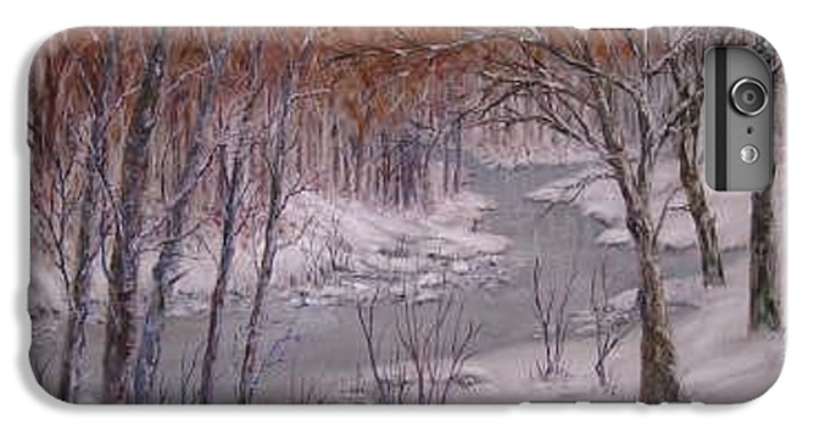 Snow; Landscape IPhone 6 Plus Case featuring the painting Peace And Quiet by Ben Kiger
