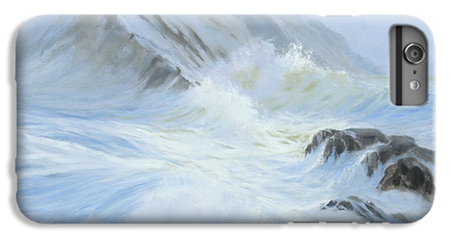 Seascape IPhone 6 Plus Case featuring the painting Quiet Moment II by Glenn Secrest