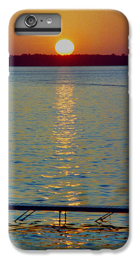 Sunset IPhone 6 Plus Case featuring the photograph Quite Pier Sunset by Randy Oberg
