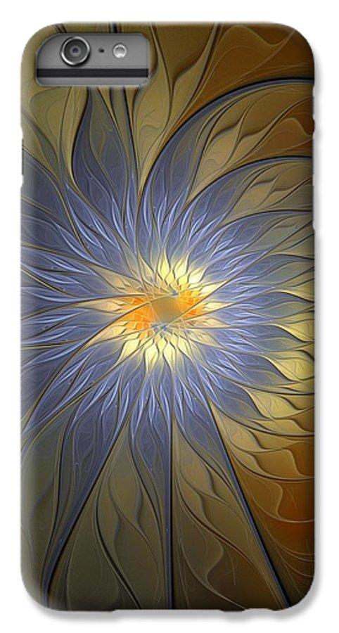 Digital Art IPhone 6 Plus Case featuring the digital art Something Blue by Amanda Moore