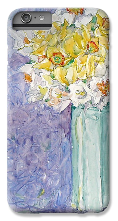 Watercolor IPhone 6 Plus Case featuring the painting Spring Blossoms by Jan Bennicoff