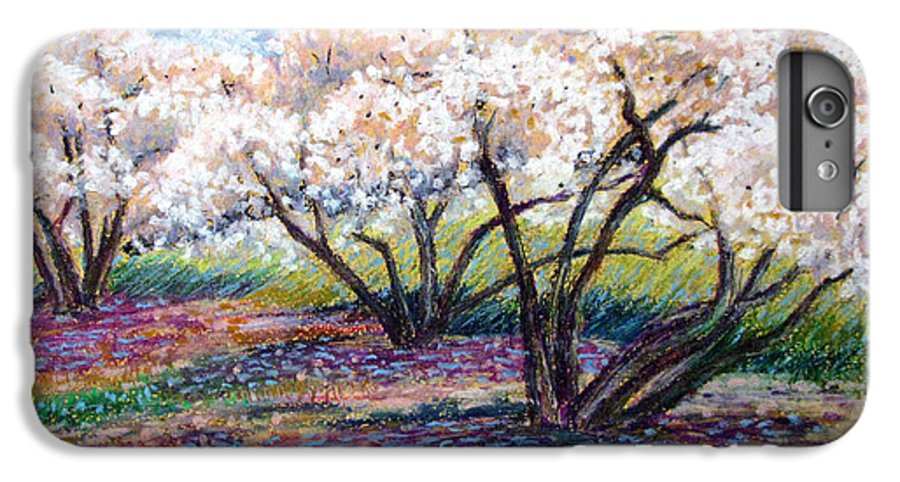 Oil Pastel IPhone 6 Plus Case featuring the painting Spring Has Sprung by Art Nomad Sandra Hansen