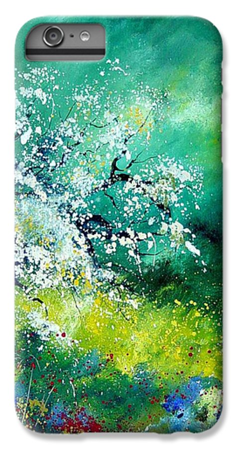 Flowers IPhone 6 Plus Case featuring the painting Spring by Pol Ledent