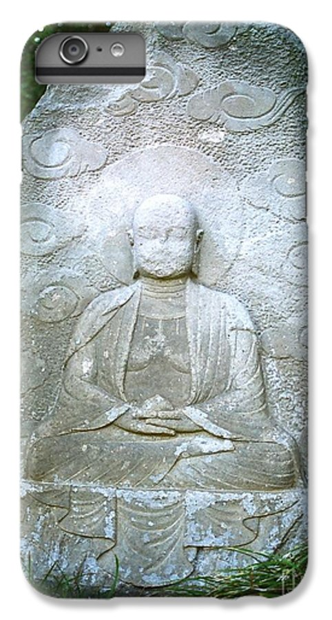 Stone IPhone 6 Plus Case featuring the photograph Stone Buddha by Dean Triolo