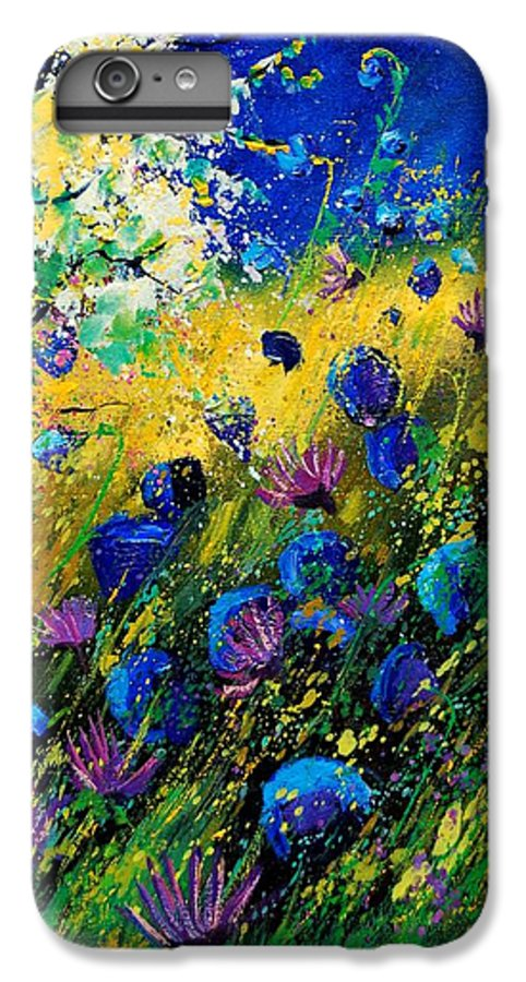Poppies IPhone 6 Plus Case featuring the painting Summer 450208 by Pol Ledent