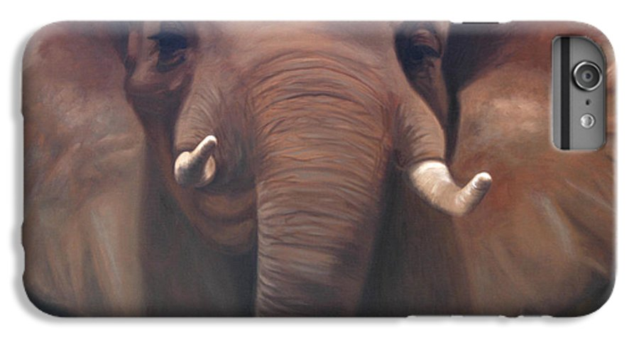 Painting IPhone 6 Plus Case featuring the painting The Charge by Greg Neal