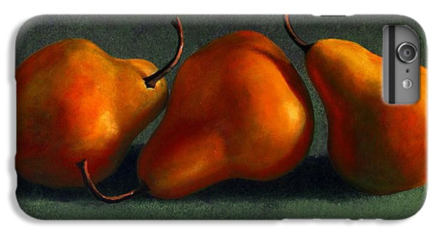 Still Life IPhone 6 Plus Case featuring the painting Three Golden Pears by Frank Wilson