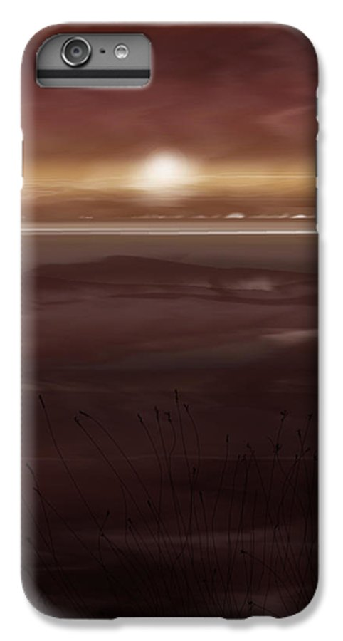 Seascape IPhone 6 Plus Case featuring the painting Tide Flats At Dusk by Anne Norskog