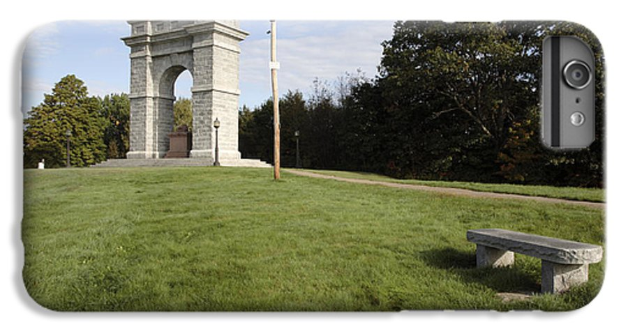 Granite IPhone 6 Plus Case featuring the photograph Titus Arch Replica - Northfield Nh Usa by Erin Paul Donovan