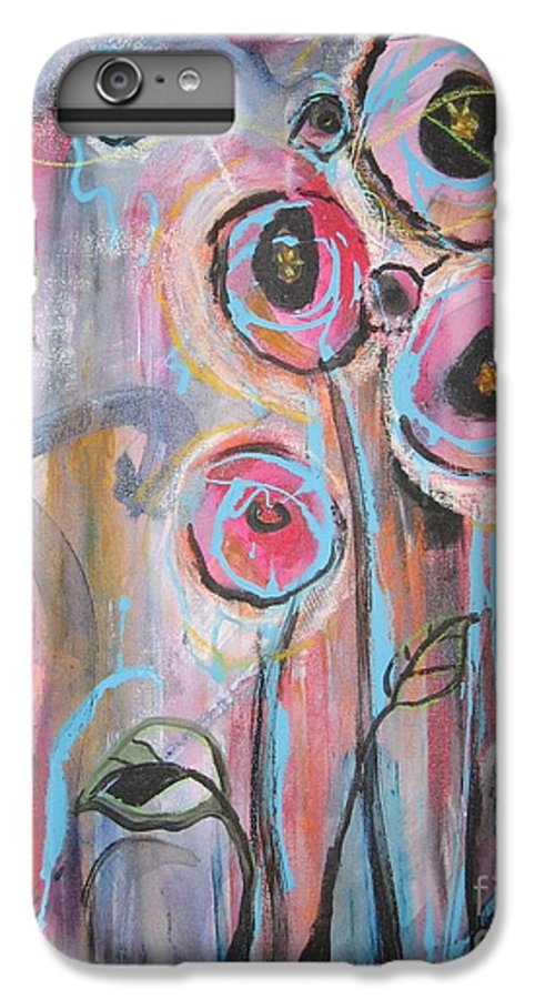Aabstract Paintings IPhone 6 Plus Case featuring the painting Too Many Temptations by Seon-Jeong Kim