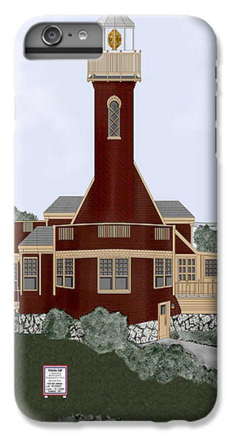 Lighthouse IPhone 6 Plus Case featuring the painting Turtle Rock Lighthouse by Anne Norskog