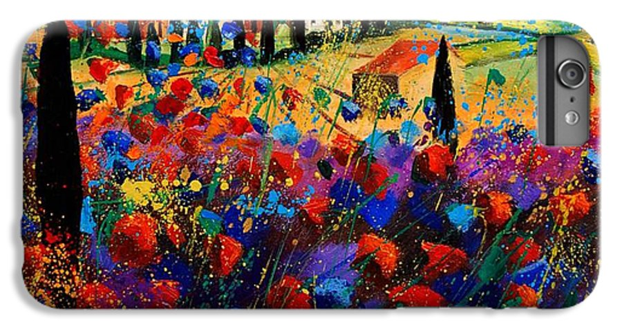 Flowers IPhone 6 Plus Case featuring the painting Tuscany Poppies by Pol Ledent