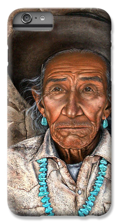 People IPhone 6 Plus Case featuring the painting Vision Of The Past by Deb Owens-Lowe