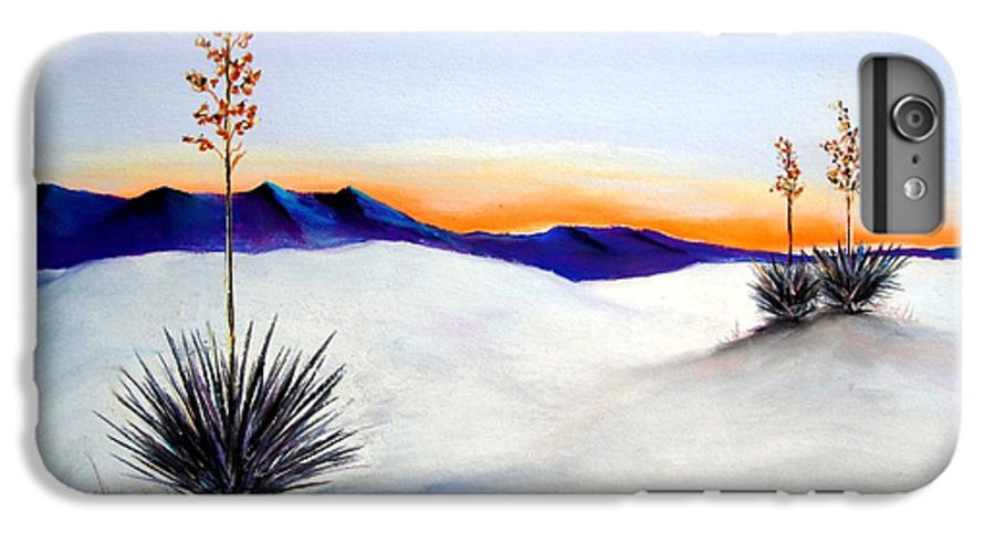 White Sands IPhone 6 Plus Case featuring the painting White Sands by Melinda Etzold