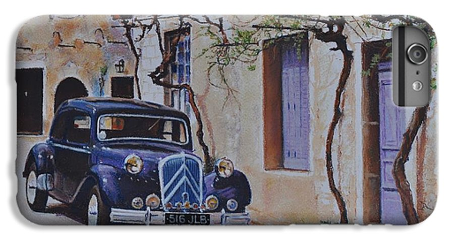 Classic Cars IPhone 6 Plus Case featuring the painting 1951's Citroen by Iliyan Bozhanov