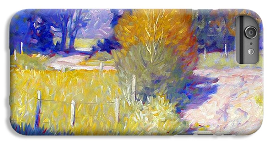 Landscape IPhone 6 Plus Case featuring the painting Back Road by Kevin Lawrence Leveque