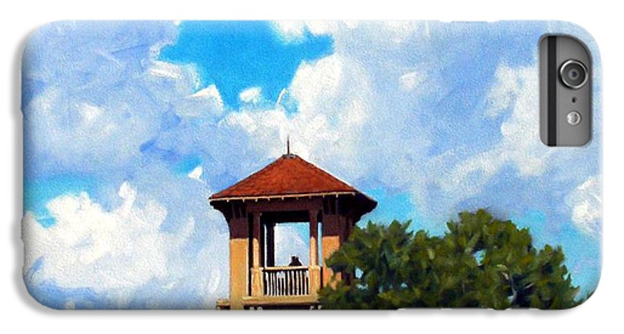 Sky IPhone 6 Plus Case featuring the painting Bell Tower by Kevin Lawrence Leveque