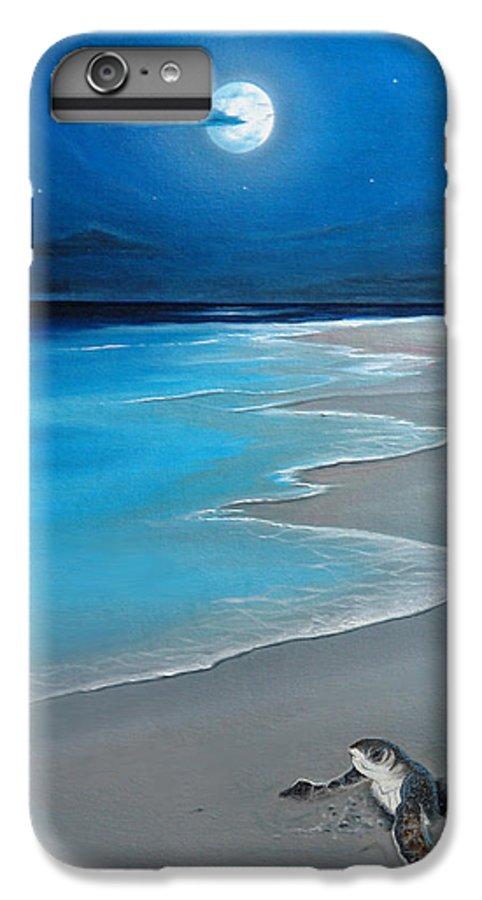 Seascape Art IPhone 6 Plus Case featuring the painting First Born by Angel Ortiz