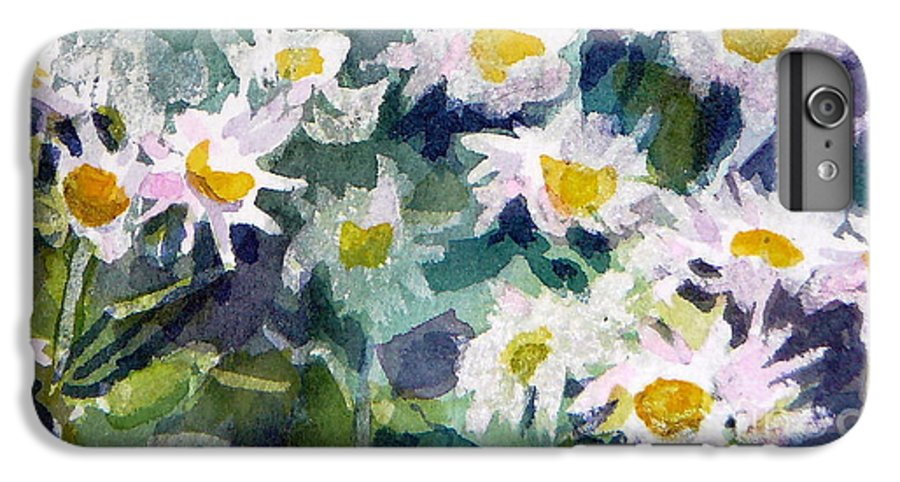 Flowers IPhone 6 Plus Case featuring the painting Little Asters by Jan Bennicoff