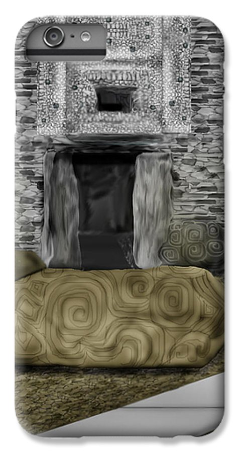 Newgrange IPhone 6 Plus Case featuring the painting Newgrange Ireland by Anne Norskog
